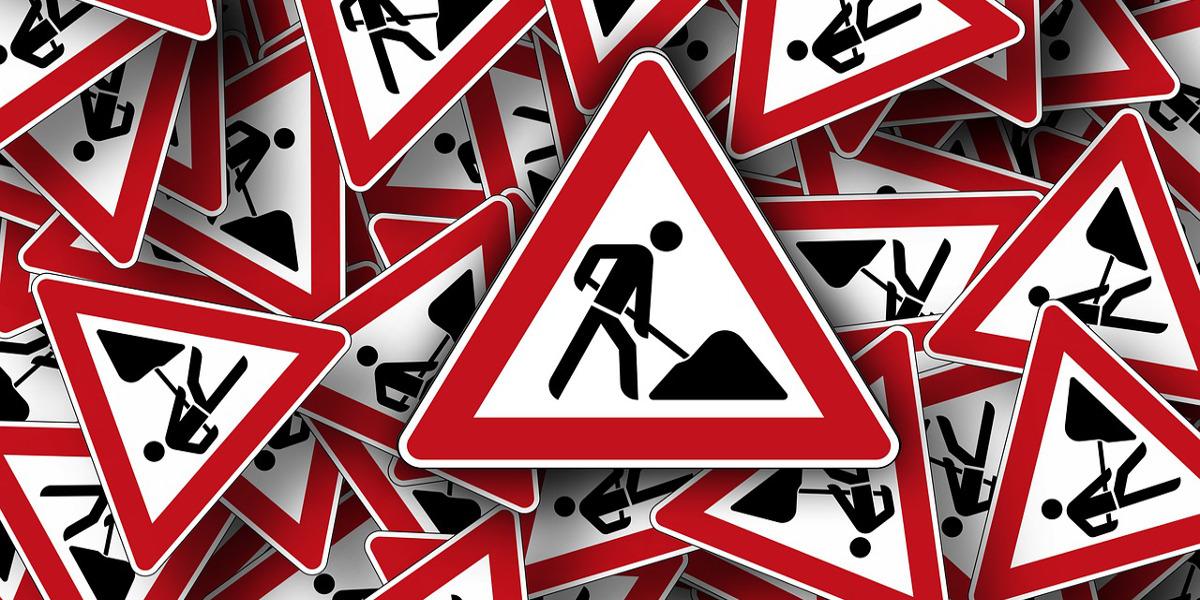 Grenzübergang Walserberg Baustelle im Juni