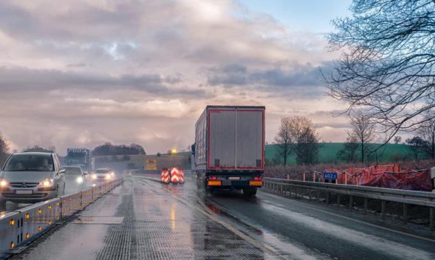 Rückgang des Transportaufkommen im Straßengüterverkehr