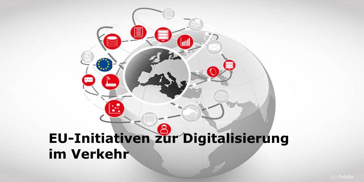 EU-Initiativen zur Digitalisierung im Verkehr