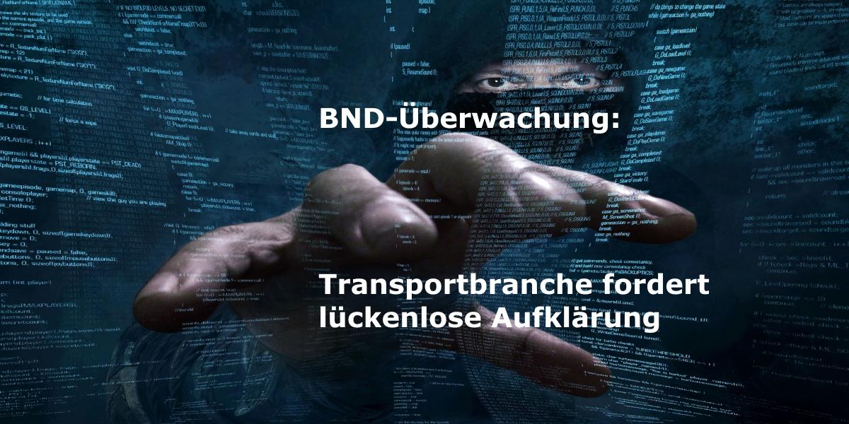 Transportbranche fordert Aufklärung zur Datenverwendung