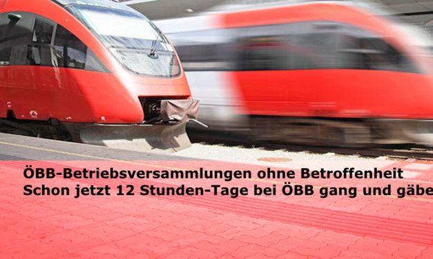 """Arbeitszeit: """"ÖBB-Betriebsversammlungen ohne Betroffenheit – was soll das?"""""""