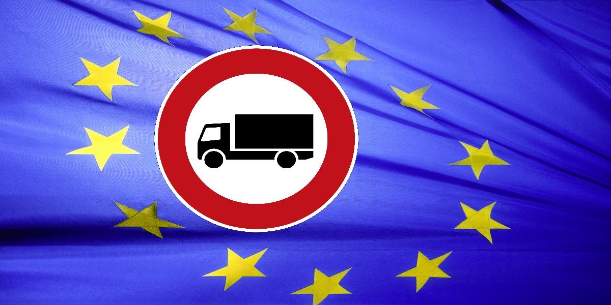Protest gegen Tiroler Fahrverbote durch Deutschland und Italien